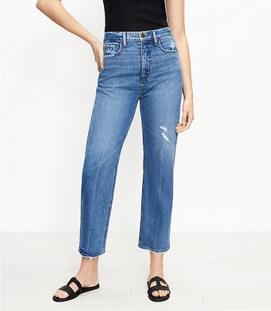 The Curvy 90s Straight Jean in Authentic Indigo Wash | LOFT