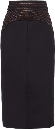 N21 High-Waisted Midi Skirt