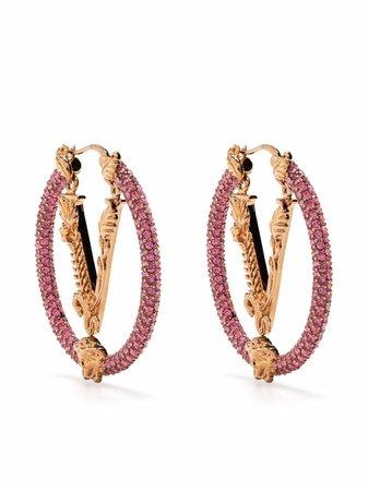 Versace Virtus crystal-hoop Earrings - Farfetch
