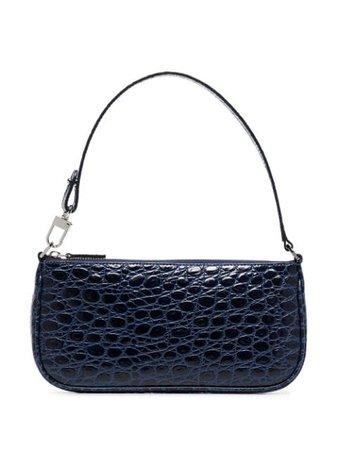 BY FAR Rachel crocodile-effect Shoulder Bag - Farfetch