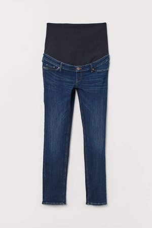 MAMA Slim Ankle Jeans - Blue