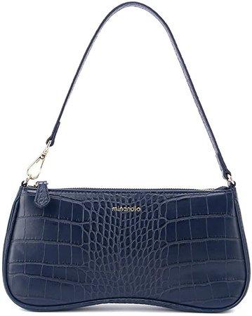 MINANDIO Leather Retro Classic Clutch Bag Crossbody Handbag Hobe Shoulder for Women with Zipper Black: Handbags: Amazon.com