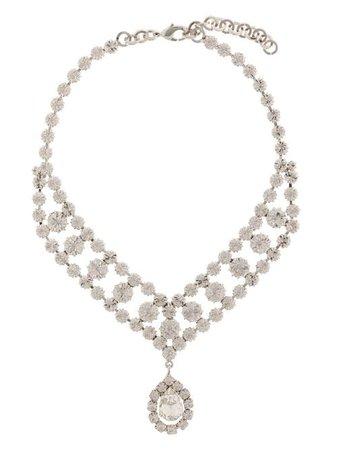 Alessandra Rich crystal-drop Chain Choker - Farfetch