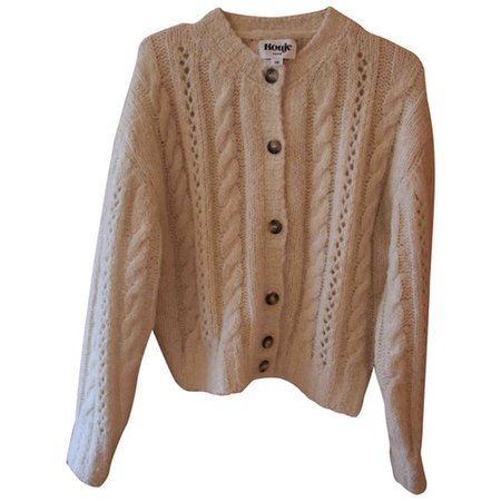 Spring summer 2019 wool cardigan Rouje Ecru size 38 FR in Wool - 9575985