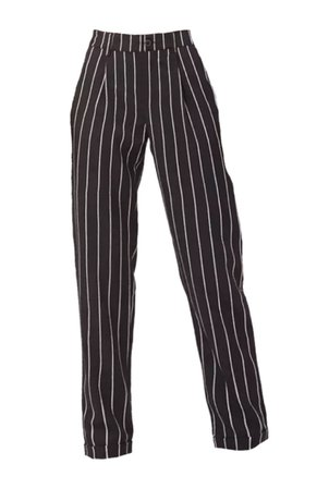 pinstripe high waist trousers