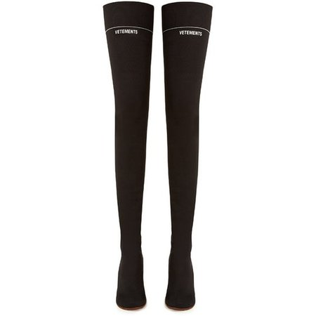 Lighter-heel sock over-the-knee boots Vetements