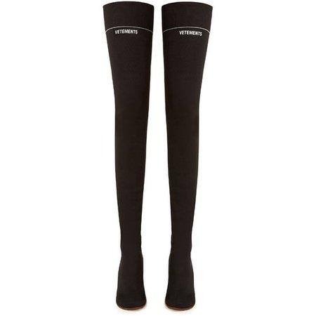 Lighter-heel sock over-the-knee boots Vetements