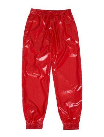 SUNSET JOGGER PANTS red : FM91.02