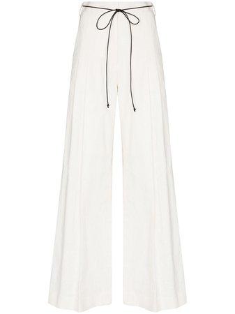 GIA STUDIOS, high-waisted wide leg trousers