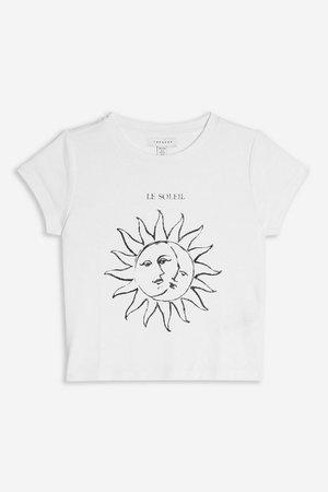 PETITE 'Le Soleil' T-Shirt   Topshop white