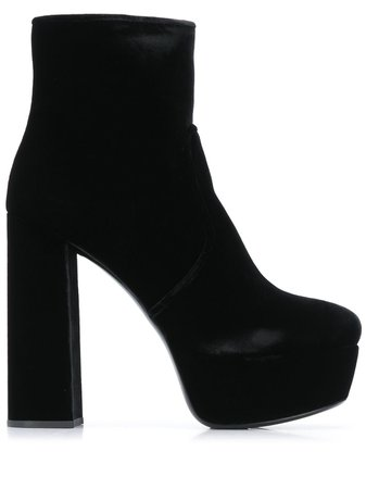 Miu Miu velvet-effect Ankle Boots - Farfetch