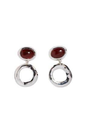 Sterling Silver And Carnelian Bianca Drop Earrings By Faris | Moda Operandi