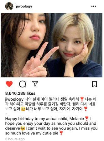 Jiwoo Instagram Post