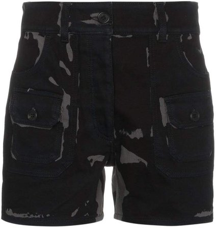 Bicolour High Waisted Shorts