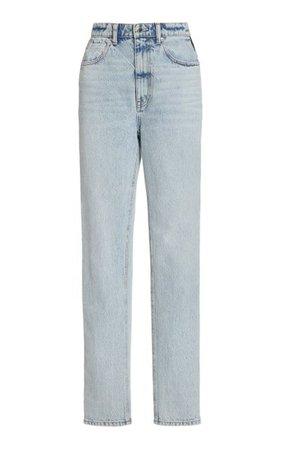 Tuxedo Striped High-Rise Straight-Leg Jeans By Alexander Wang   Moda Operandi