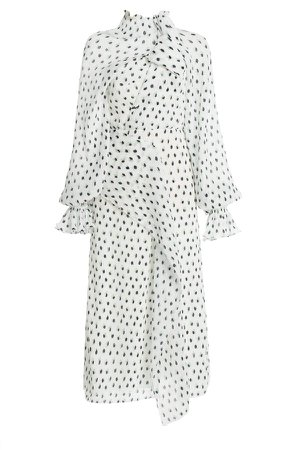 Roland Mouret Giza Polka-Dot Crepe Dress