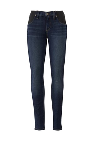 Blue Verdugo Maternity Ultra Skinny Jeans by PAIGE for $35 | Rent the Runway