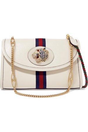 Gucci | Rajah small embellished leather shoulder bag | NET-A-PORTER.COM