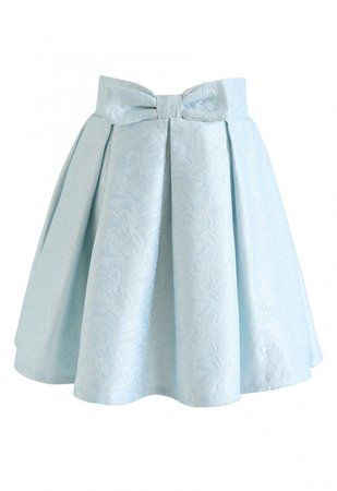Sweet Your Heart Jacquard Skirt in Baby Blue - NEW ARRIVALS - Retro, Indie and Unique Fashion