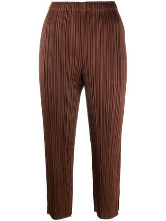 Pleats Please Issey Miyake Cropped Pleated Trousers - Farfetch
