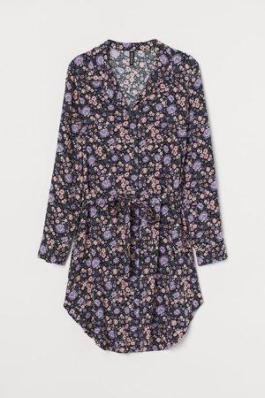 Short Shirt Dress - Pink