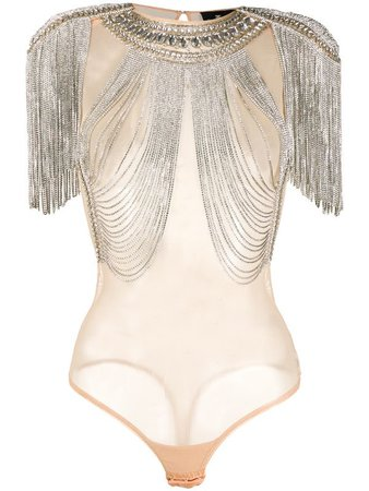ELISABETTA FRANCHI Embellished Bodysuit