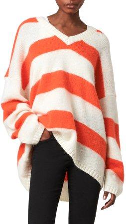 Lou Stripe V-Neck Sweater