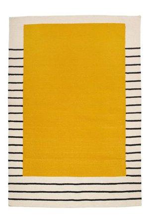 Suzanne Flat-Weave Rug, Yellow | AELFIE