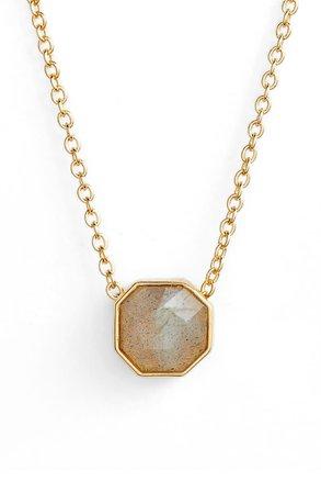 gorjana Power Gemstone Charm Adjustable Necklace | Nordstrom