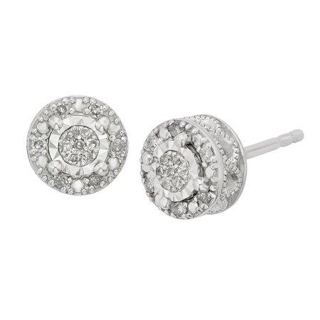 silver stud earring - Bing
