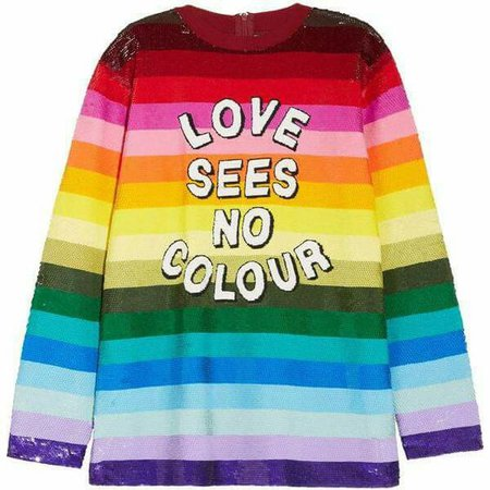 ASHISH Love Sees No Color Top