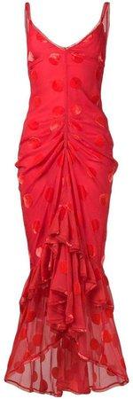 Skylar velvet spot maxi dress