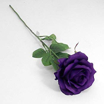 Artificial 58cm Single Cadbury Purple Rose: Amazon.co.uk: Kitchen & Home