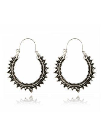 Zigzag Hoop Earrings
