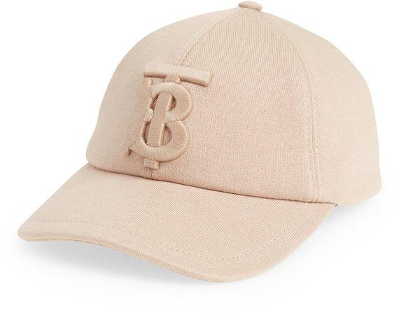 TB Monogram Embroidered Jersey Baseball Cap