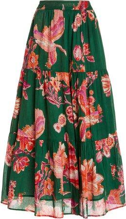 Banjanan Patience Floral-Print Cotton Skirt