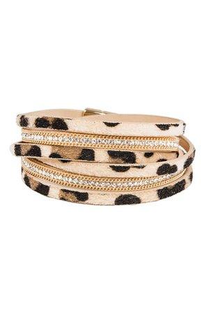 Saachi | Verna Rhinestone Embellished Metal Bracelet | Nordstrom Rack