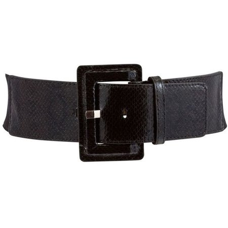 Black Buckle Stretch Belt
