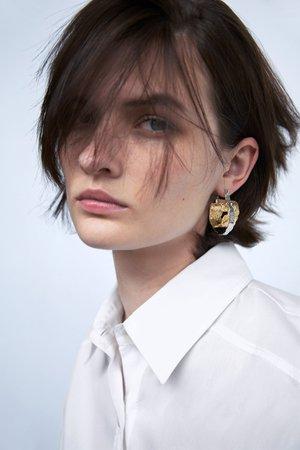 TEXTURED HOOP EARRINGS | ZARA United Kingdom