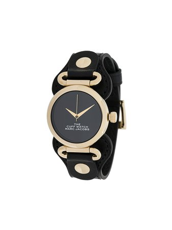 Black & gold Marc Jacobs Watches The Cuff watch - Farfetch