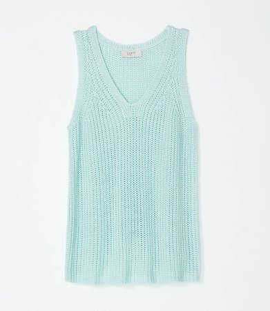V-Neck Lightweight Sweater Tank