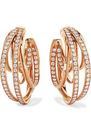 de GRISOGONO | Allegra 18-karat rose gold diamond earrings | NET-A-PORTER.COM