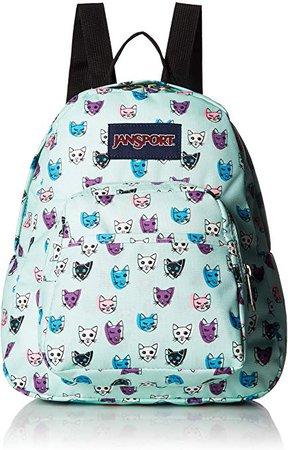 JanSport Half Pint Backpack Brook Green Cool Cats