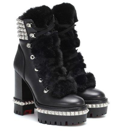Yeti Donna Leather Ankle Boots - Christian Louboutin | Mytheresa