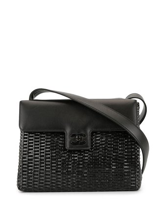 Chanel Pre-Owned Woven Cc Shoulder Bag Vintage | Farfetch.com