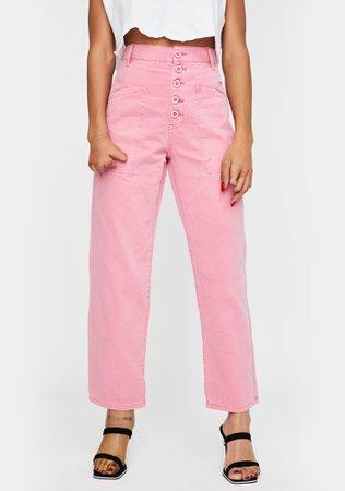 Pistola Pink Tammy High Rise Cargo Jeans | Dolls Kill