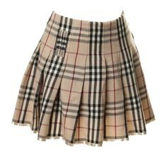   Burberry skirt, Plaid pleated skirt,