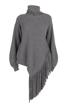 Asymmetric Fringed Cashmere-Blend Turtleneck Sweater By Stella Mccartney | Moda Operandi