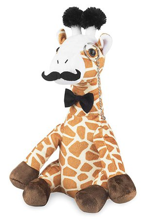 Amazon.com: Fancy Giraffe Plush Stuffed Animals: Cute & Funny Small Plushie Toy Animal with Mustache, Monocle & Bowtie for Babies, Children or Adults - Party Gift or Bedtime Toys for Boys & Girls - 14 Inches Tall: Toys & Games