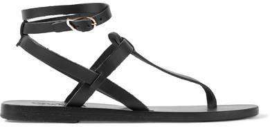 Estia Leather Sandals - Black